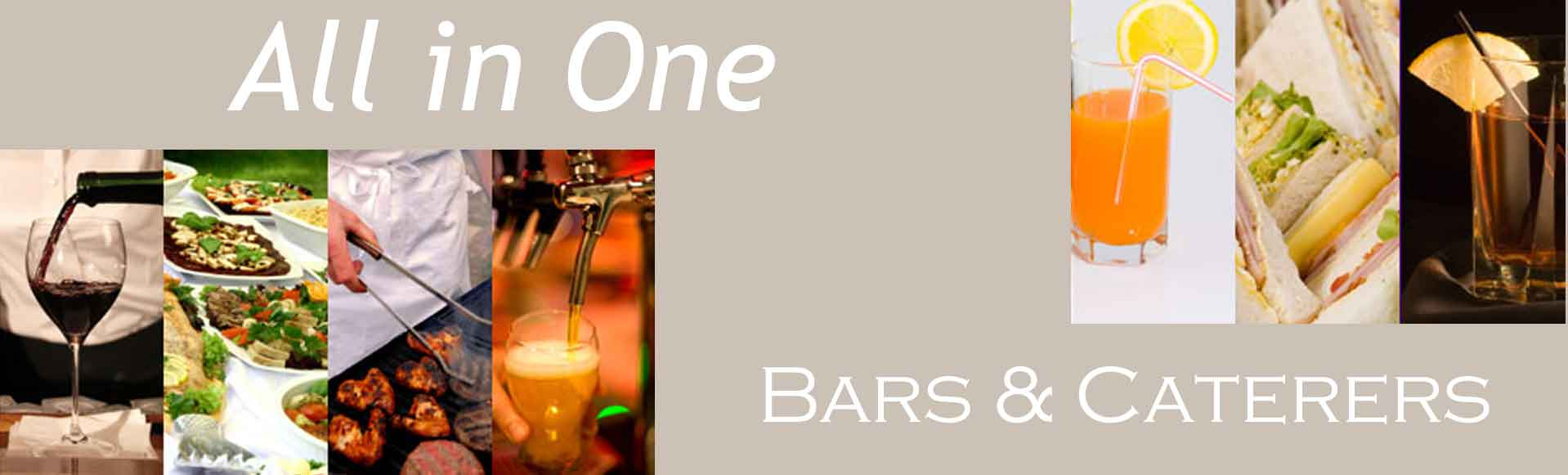 All in One Bars and Caterers logo